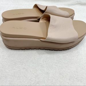 Aldo platform pink slides sandals